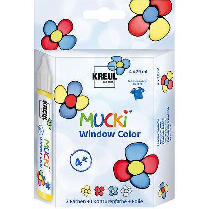 "KREUL Window Color Pen ""MUCKI"", 4er-Set"