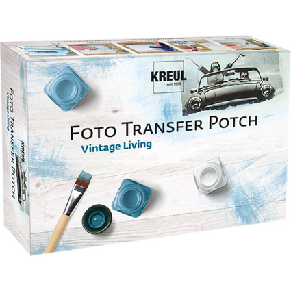 "KREUL Foto Transfer POTCH, Set ""Vintage Living"""