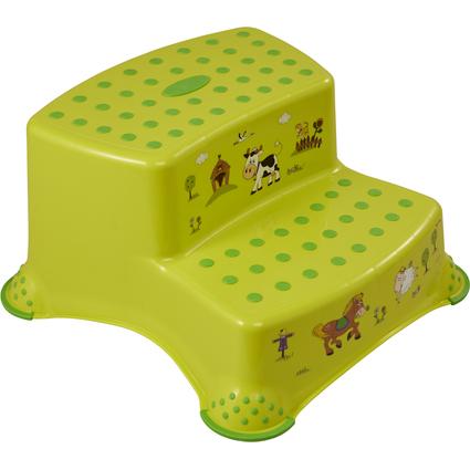 "keeeper kids Tritthocker ""igor funny farm"", zweistufig, grün"
