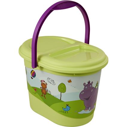 """keeeper kids Windeleimer """"karol hippo"""", grün mit Aufdruck"""