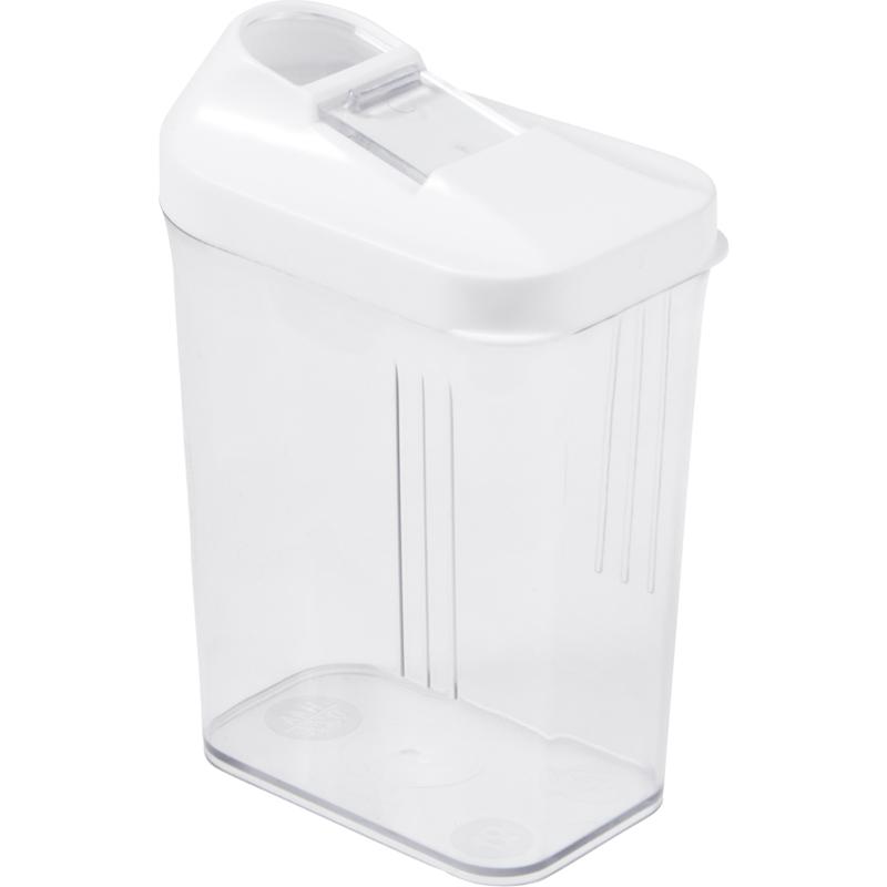 "transparent keeeper Schüttdose /""paola/"" 1,5 Liter weiß"