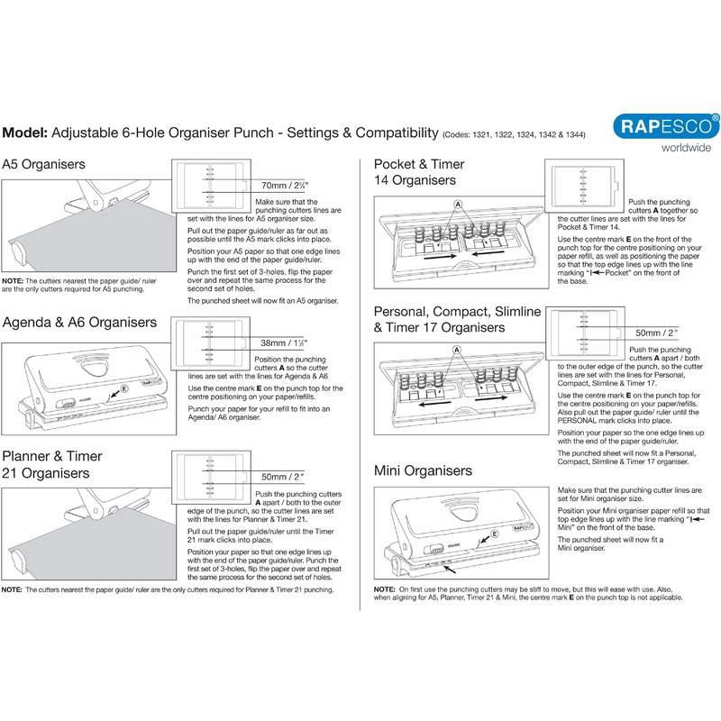 RAPESCO Mehrfachlocher für Terminplaner silber